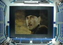 60 bin karton bardakla Atatürk portresi yaptılar