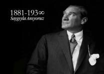 Cumhuriyetimizin kurucusu ulu önder Gazi Mustafa Kemal Atatürk anıldı