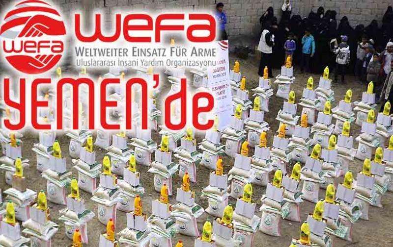 Yemen'e WEFA'dan İnsanî Yardım