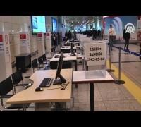 Atatürk Havalimanına sandık, oy kabinleri ve bilgisayarlar yerleştirildi