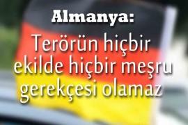 Almanya'dan Türkiye'ye destek
