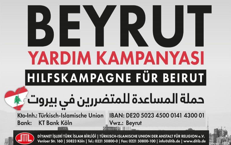DİTİB'den Beyrut için yardım kampanyası