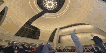 """DİTİB Merkez Camii'nin iç tezyinatı """"Çay Akşamı""""nda anlatıldı"""