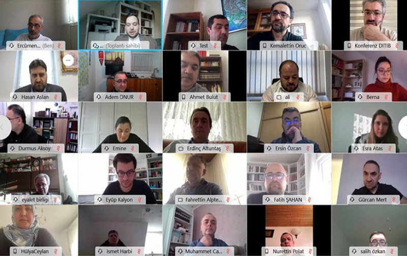 DİTİB teşkilatı 'online' toplantısı ile bir araya geldi