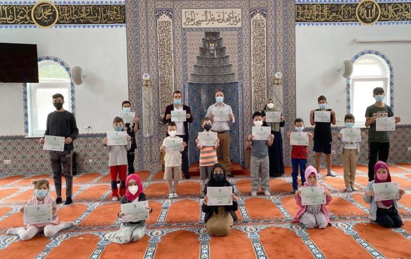 5-15 yaş Kuran Kursu öğrencileri 5100 fidan bağışladı