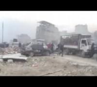 Halep'ten çıkan ilk tahliye konvoyuna ateş açılma anları