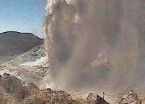 Japonyada yanardağ 250 yıl sonra faaliyete geçti