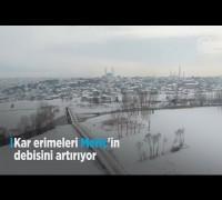 Kar erimeleri Meriç'in debisini artırıyor