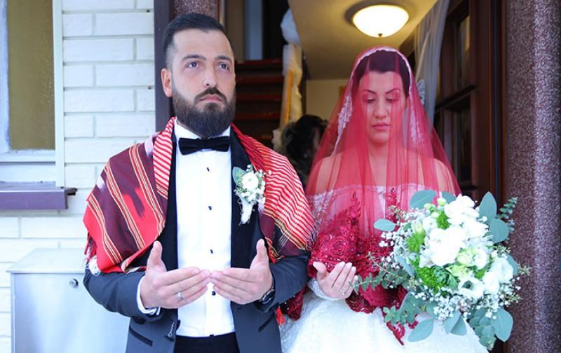 Almanya'da Trabzonlu Kavanoz ve Aksoy ailelerinin mutlu günü