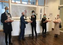 DİTİB camisinden şehir hastanesi çalışanlarına baklava ikramı