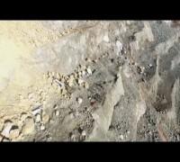 Maden ocağındaki heyelan havadan görüntülendi