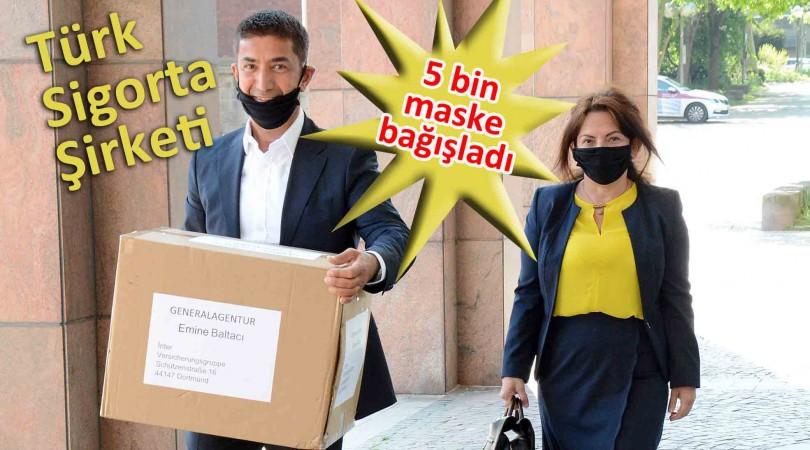 Maskeler Dortmund Belediye'sine bağışlandı