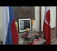 Türk-Rus Dostluk Evi binası önüne Karlov anısına çiçekler bırakıldı